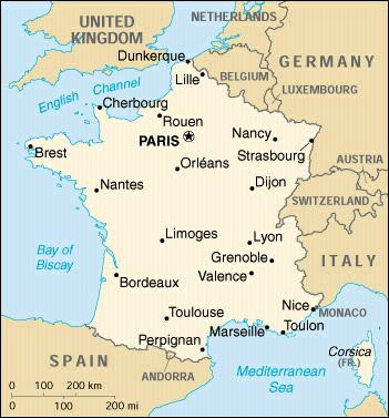 France Map Cellular Abroad